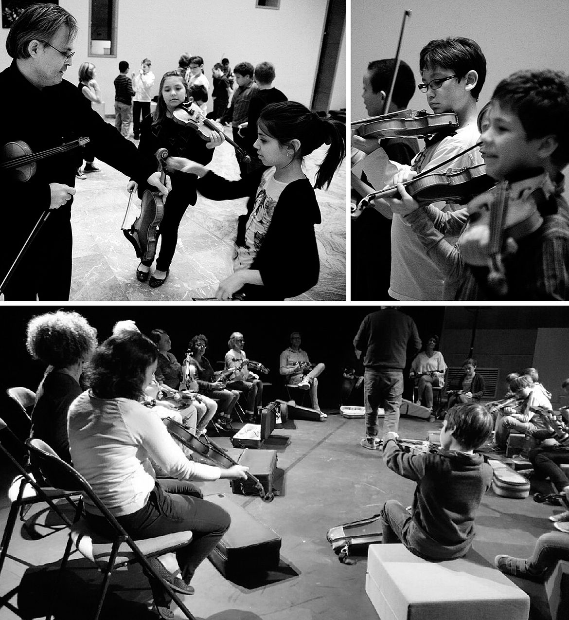 Violin workshops with families and children